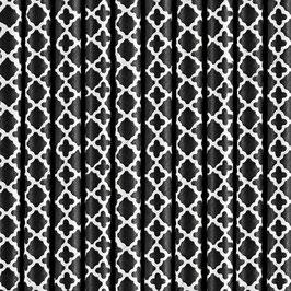 Papierstrohhalme schwarz Ornament