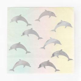 Servietten Delfine