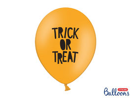 "10 Luftballons ""Trick or Treat"" Orange"