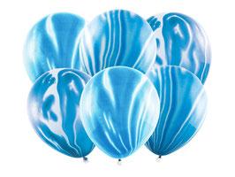 Luftballonset Marble Blau