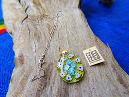 MILLEFIORI-AURUM  skyblue & yellow