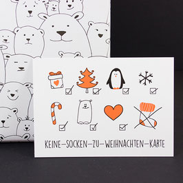 Postkarte Keine-Socken-Karte