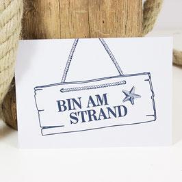 Postkarte BIN AM STRAND
