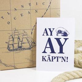 Postkarte AY AY KÄPT´N
