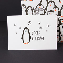 Postkarte Coole Feiertage