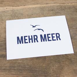Postkarte MEHR MEER