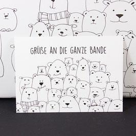 Postkarte Grüße an die Bande