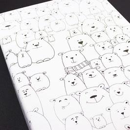Geschenkpapier Eisbärenbande