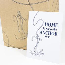 Postkarte HOME IS ...
