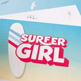 Postkarte SURFER GIRL