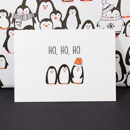 Postkarte Ho, Ho, Ho