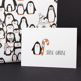 Postkarte Süße Grüße