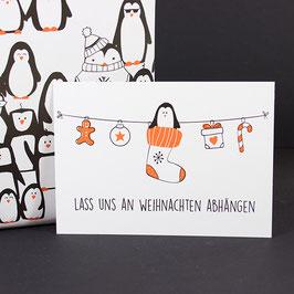 Postkarte Lass uns abhängen
