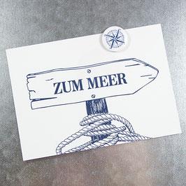 Postkarte ZUM MEER