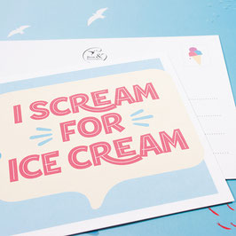 Postkarte ICE CREAM