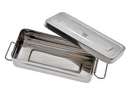 Aufbewahrungsbox mit Deckel klein - aus Edelstahl