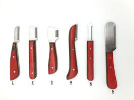 NEW     Mähnenverziehmesser mit exklusiven Holzgriff - verschiedene Größen - Preis ist pro Messer