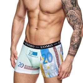Uomo heren boxer €20,- biljet BLAUW
