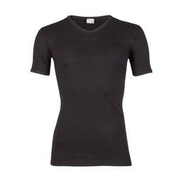 T-shirt M3000, V-hals, ZWART