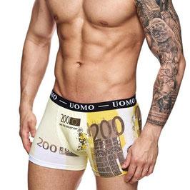 Uomo heren boxer €200,- biljet GEEL