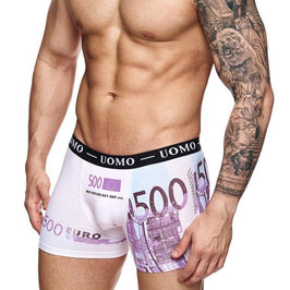 Uomo heren boxer €500,- biljet PAARS