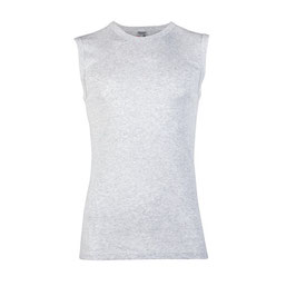 Mouwloos Shirt GRIJS GEBLEEKT