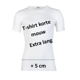 T-shirt M3000, Extra Lang, WIT