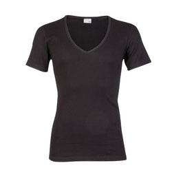 T-shirt M3000, Diepe V-hals ZWART