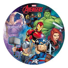 Disque Sans Sucre 20 cm Avengers