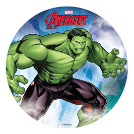Disque Azyme 20 cm Avengers HULK