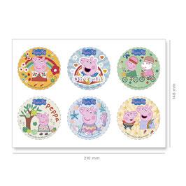 6 Petits Disques Sans Sucre Peppa Pig