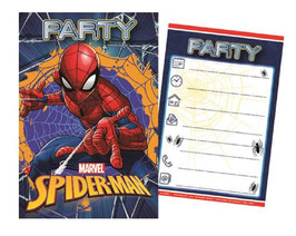 Pack Cartes Invitation Spiderman