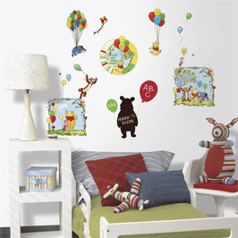 Stickers Muraux 6 Planches Winnie L'ourson