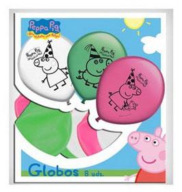 Lot 8 Ballons de baudruche Peppa Pig