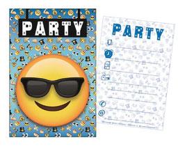 Pack Cartes Invitation Smiley Emoji