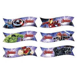 6 Drapeaux / Banderoles Azyme Avengers