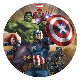 Disque sans Sucre  16 cm Avengers