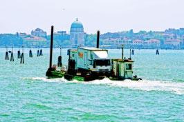 «Wasseresel für Kleintransporter» in der Lagune von Venedig, IT