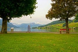 Promenade am Sarnersee, Sarnen, Obwalden, CH