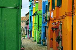 «Farbenwelt» auf der Insel Murano, Venedig, IT