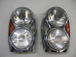 Mercedes Doppelscheinwerfer Scheinwerfer Satz W111 W112 Coupe Cabrio W108 W109 Headlights spotlight S SE SEL