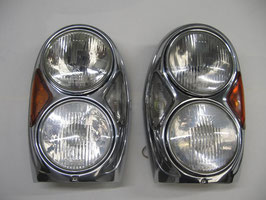 Mercedes Doppelscheinwerfer Scheinwerfer Satz W111 W112 Coupe Cabrio W108 W109 Headlights spotlight