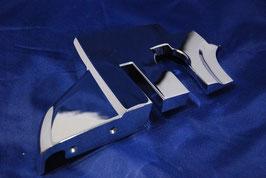 Vg.Nr 1076930235 Abdeckung B Säule Chrombeschlag rechts chrome cover b pillar right W107 R107 SL Cabrio