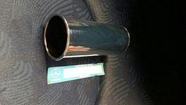 1234920714 NOS Auspuffanlage Endschalldämpfer chrom Rohr 52mm silencer Mufler Mercedes W108 W110 W114 W115 W123