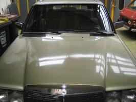 Mercedes Motorhaube 1238800357 silberdistel 881 W123 CE TE Limousine Coupe T Modell 200 230 240 280 300 Engine hood