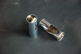 Mercedes Auspuffanlage Endschalldämpfer chrom Rohr 45mm silencer Mufler Vg. Nr. 1164920514 W108 W111 W107 R107 W114 W116