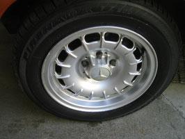 Mercedes Satz Barockfelgen 15 Zoll ARC ADB70 KBA40439 ET23 7x15 wie Fuchsfelgen mit Firestone firehawk 205 60 R15 91H W107 R107 W108 W109 W111 Coupe W113 W114 W116 W123 W126 4