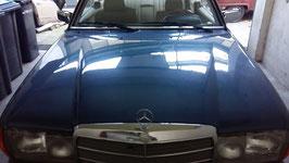 1238800357 Motorhaube Mercedes W123 Lapisblau Met 932 Coupe T Modell Limousine engine hood
