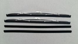 Mercedes Satz Wischerblätter Vg.Nr. 1078200045 und Wischergummis Vg.Nr 0008241427 45cm Edelstahl wiper blade W107 W116