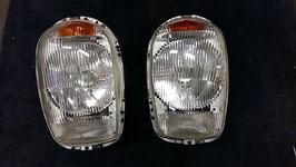 Mercedes Scheinwerfer Euro Satz original Bosch Bilux Vg.Nr. 1138200461 headlamp headlight set W113 Pagode Pagoda 230SL 250SL 280SL